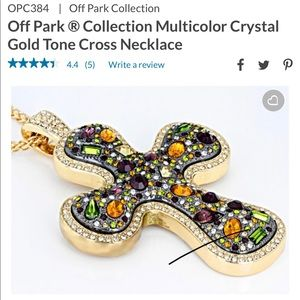 Off park collection large crystal cross necklace